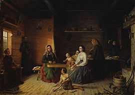 Robert Wilhelm Ekman - Kreeta Haapasalo Playing the Kantele in a Peasant Cottage.jpg
