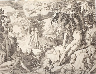 Golden Age - Robert Willemsz de Baudous: Golden Age, etching, cca 1598.