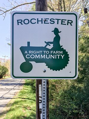 Right-to-farm laws - Image: Rochester is a Right to farm community
