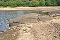 Rock outcrop in Tottiford Reservoir.jpg