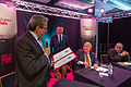 Roland Ries remet le Goncourt de la nouvelle à Fouad Laroui Strasbourg 21 sept 2013.jpg