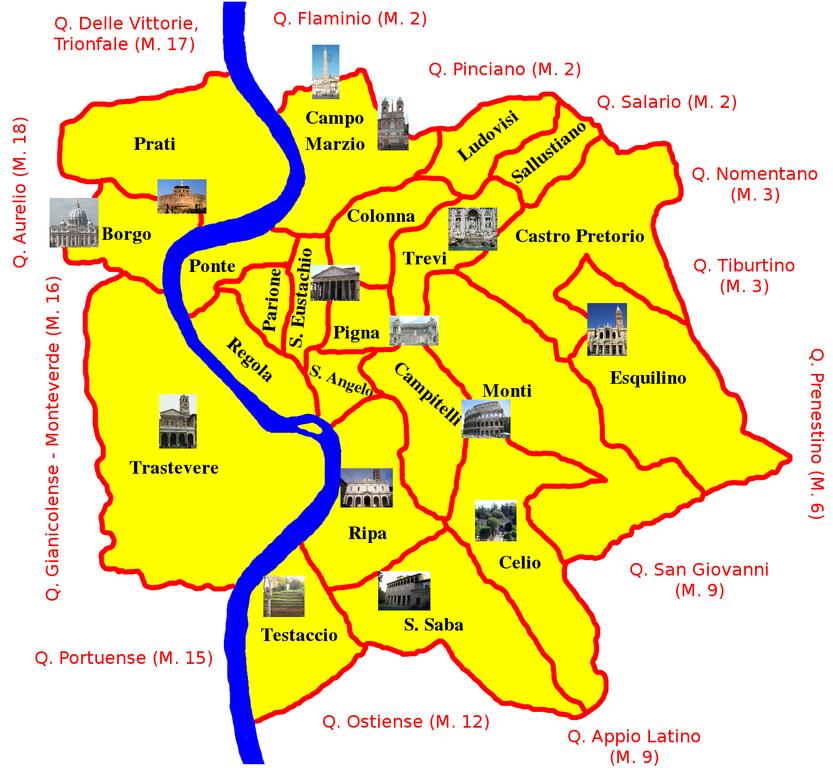 Roma Centro Storico Cartina.File Roma Rioni Mappa Png Wikimedia Commons