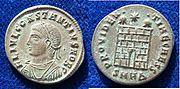 Roman Imperial Follis Caesar Constantius II 325