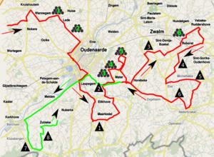 2012 Tour of Flanders - Image: Ronde van Vlaanderen 2012 lap 1