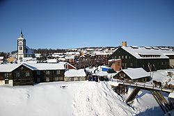 View of the mining town of Røros