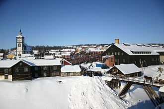 Røros - View of the mining town of Røros