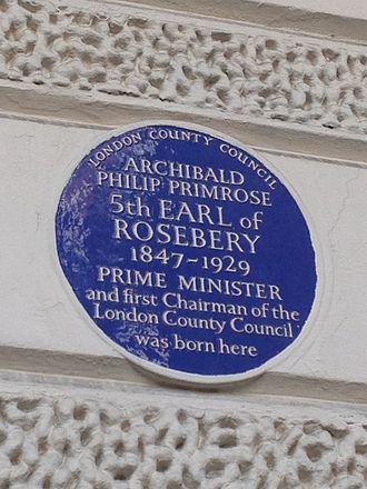 Charles Street, Mayfair - Blue plaque in Charles Street