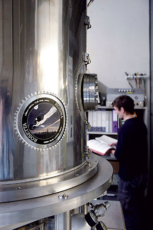 University of Bern - Steel container for the Rosetta mission of the ESA, 2009.
