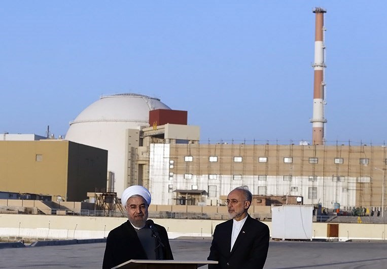 Rouhani and Salehi in Bushehr Nuclear Plant (1)