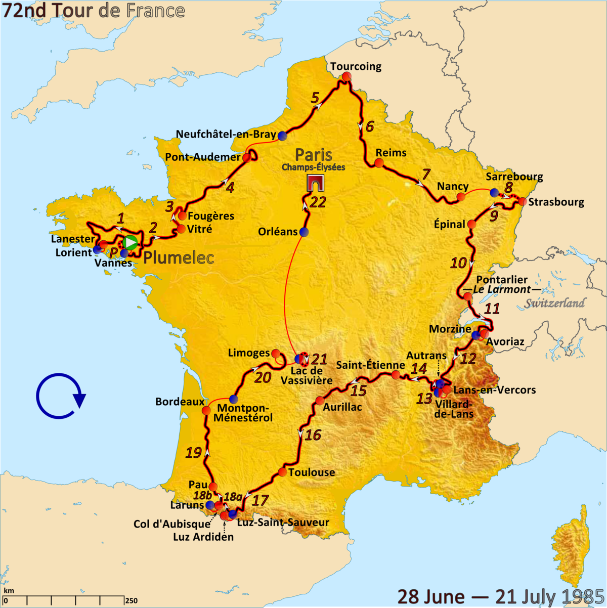 Tour De France  Stage  Route