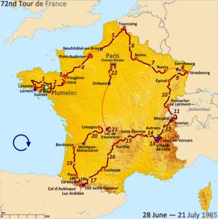 1985 Tour de France, Prologue to Stage 11 Wikimedia list article