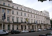 Royal College of Psychiatrists (building with yellow flag)