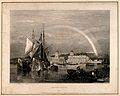 Royal Naval Hospital, Greenwich, with a rainbow over it, fro Wellcome V0013298.jpg