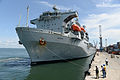 Royal Navy support ship arrives in Freetown, Sierra Leone (15677515882).jpg