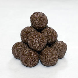 Typical Danish rum balls