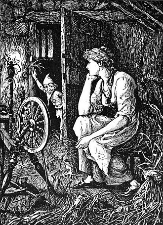Rumpelstiltskin - Illustration from Andrew Lang's The Blue Fairy Book (1889)