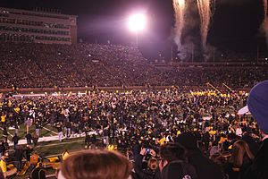 2013 Missouri Tigers football team - Image: Rushing Faurot Field 2013