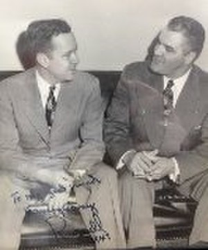 Harvey Locke Carey - Carey (right) confers in Washington, D.C., with U.S. Senator Russell B. Long, whose 1948 campaign in northwestern Louisiana Carey managed.