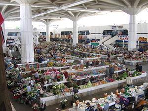 A bazaar in Ashgabat