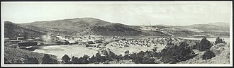 Ruth, Nevada - A panorama of Ruth, circa 1912