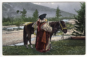 Altai people - Image: SB Altay woman with horse