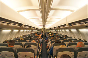Enter Air - Interior of the Boeing 737-400 SP-ENF