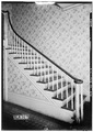 STAIRWAY IN HALL - Father Robert Donnell House, 601 South Clinton Street, Athens, Limestone County, AL HABS ALA,42-ATH,7-4.tif