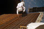 STS-116 Solar Panel Spacewalk