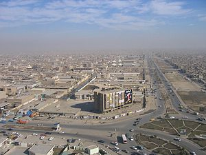 Overhead view of Sadr City