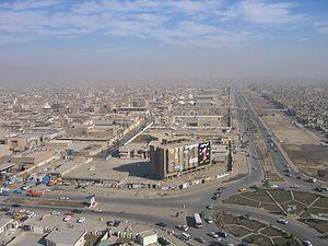 Overhead view of Sadr City