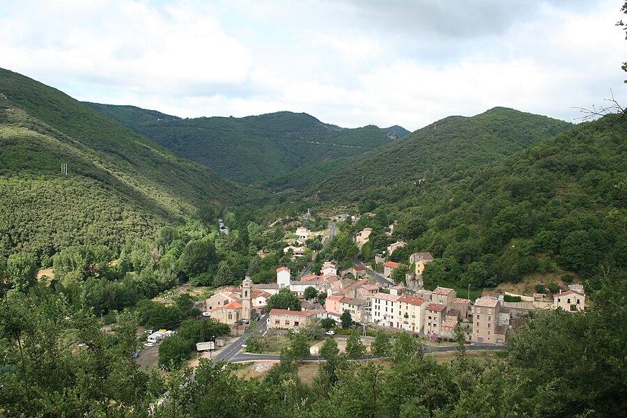 Saint-Étienne-Estréchoux (Hérault) - vue générale.