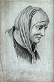 Saint Anne. Pencil drawing. Wellcome V0031577.jpg