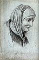 Saint Anne. Pencil drawing. Wellcome V0031577.jpg