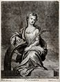 Saint Catherine. Mezzotint by J. Smith after Sir G. Kneller. Wellcome V0031803.jpg