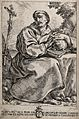 Saint Francis of Assisi, holding a skull, contemplating a Wellcome V0032048.jpg