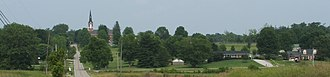 Saint Joseph, Vanderburgh County, Indiana - Image: Saint joe skyline