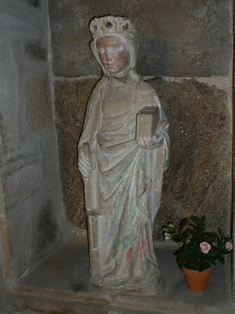 Arvieu - The Statue of Saint Foy