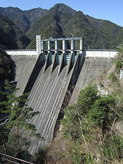 Sakuma Dam dam in Shizuoka Prefecture-Aichi Prefecture Japan