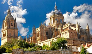 New Cathedral of Salamanca - Tower and dome of the New Cathedral.