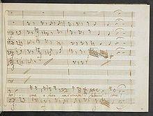 """La passione di Gesù Cristo - Autographe Seite der Rachearie """"Come a vista di pene sì fiere"""" (Quelle: Wikimedia)"""
