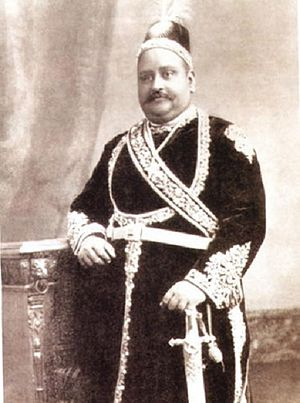 Zamindar - Sir Khwaja Salimullah was a zamindar with the title of Nawab.  His family's landholdings in Bengal were one of the largest and richest in British India.
