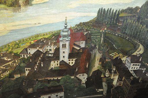 Salzburg Sattler-Panorama Stift Nonnberg