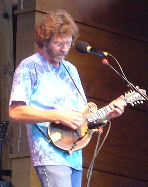 Bluegrass mandolin - Bluegrass fiddler and mandolinist Sam Bush with a typical f-style mandolin