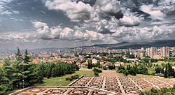 "View of the city from the monument ""The Defenders of Stara Zagora"""