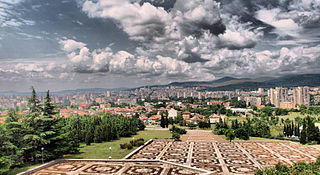 Stara Zagora from the Samarsko Zname Monument