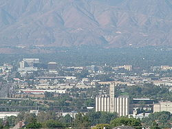 Skyline of San Bernardino, California