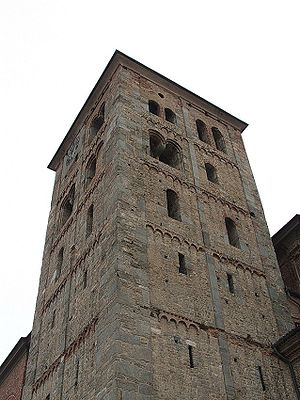 Abbey of Fruttuaria - Bell tower of the abbey.