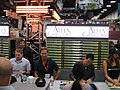 San Diego Comic-Con 2011 - Jonah Hill and the cast of Allen Gregory (Fox booth) (6039796816).jpg