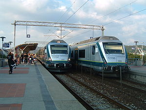 Jæren Commuter Rail - Image: Sandnes stasjon