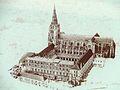 Sant-Maixent-l'Ecole - Abbaye - Dessin.JPG